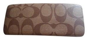 Coach Brown C Logo Eyeglass Case