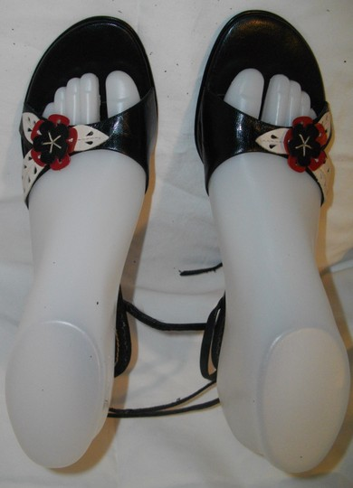 Guess Multicolored Casual Floral High Heels Black, Red, White Sandals