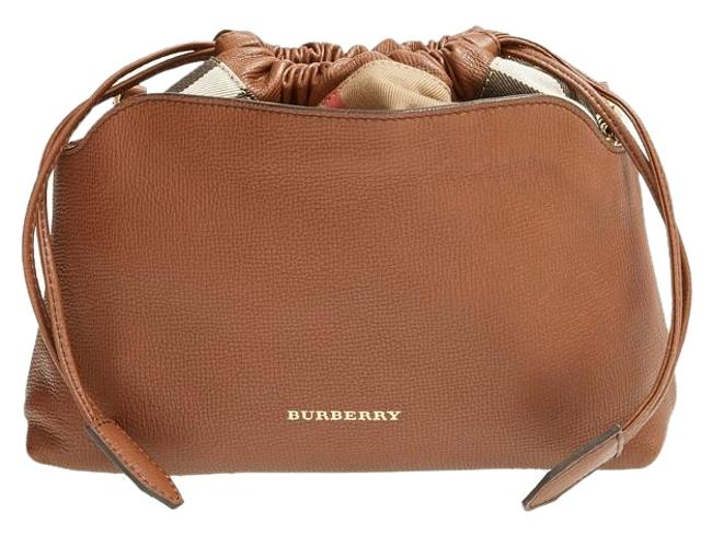 Item - Clutch New Little Crush Check Brown Leather Cross Body Bag