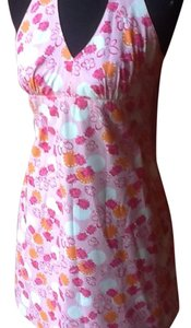 Lilly Pulitzer short dress Pink base with cute, dark pink ladybugs. Pops of white and orange circles. on Tradesy