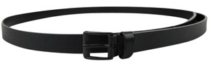 Gucci New Black Thin Leather Belt w/Square Buckle 220077 1000 115/46
