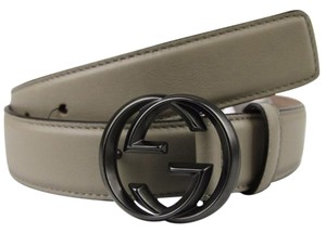 Gucci New Beige Leather Belt w/Interlocking G Buckle 336829 1523 105/42