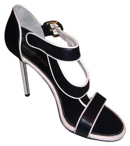 Sergio Rossi Color Combo Black/White Sandals
