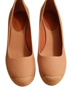 J.Crew Espadrille Canvas Flax Wedges