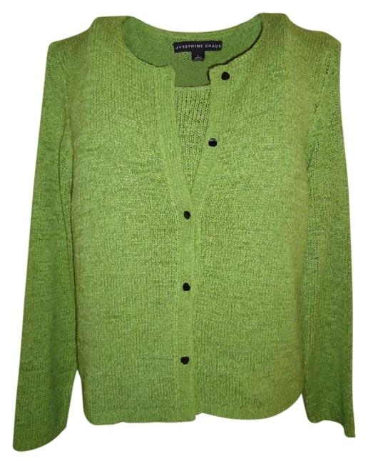 Preload https://item5.tradesy.com/images/josephine-chaus-green-yarn-l-matching-set-cardigan-size-14-l-173189-0-0.jpg?width=400&height=650