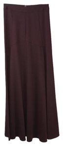 ASOS Colored Deep Maxi Skirt Wine