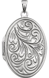 Luxury Designer Sterling Silver Oval Fashion Locket by BrianGdesigns