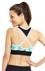 New Balance HEIDI KLUM FOR NEW BALANCE Hottie Bra White Mint Print XL