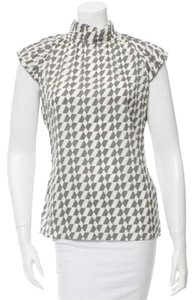 Rachel Zoe Sleeveless Turtleneck Top Print
