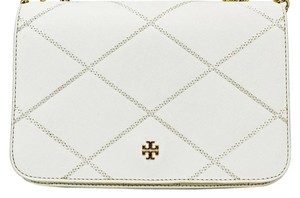 Tory Burch Robinson Stitched Saffiano Chain Strap Cross Body Bag