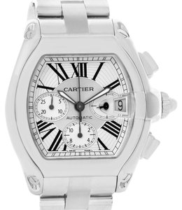 Cartier Cartier Roadster Chronograph Silver Dial Mens Watch W62019X6 Box