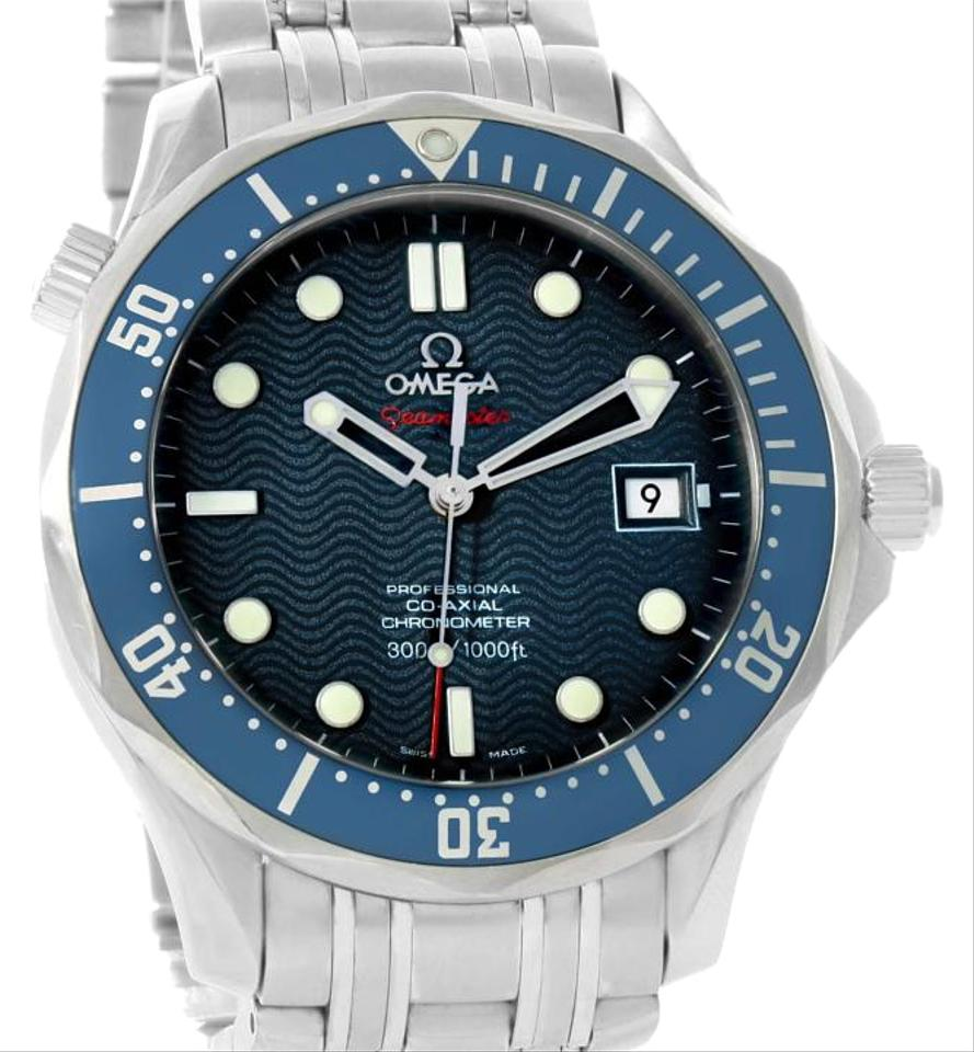 Omega seamaster bond 300m diver co axial blue dial watch for Omega diver