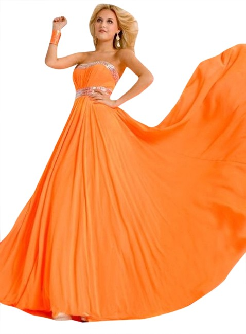 Party Time Formals New Prom 6018 A-line Empire Waist Dress