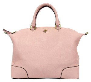 Tory Burch Frances Convertible Slouchy Pink Satchel in Rose Satchet