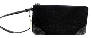 Coach Sparkle Wallet Wristlet in Black