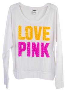 PINK Sequin Limited Edition Bling T Shirt White