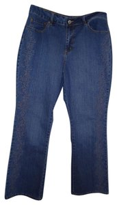 Coldwater Creek Embroidered Size Boot Cut Jeans-Medium Wash