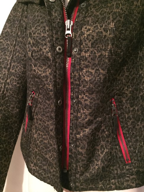Free People Textured Lined Black/Gold Jacket