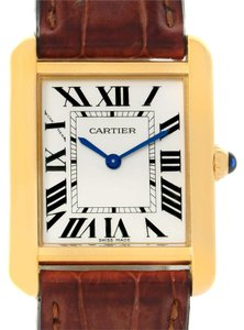 Cartier Cartier Tank Solo Small Gold and Steel Brown Strap Watch W1018755