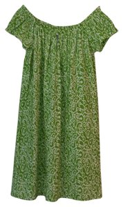 Jude Connally short dress Green/white on Tradesy