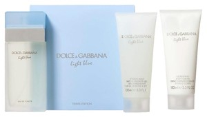 Dolce&Gabbana D & G Light Blue Women 3pc Gift Travel Edition Set 3.3 oz Eau De Toilette Spray + 3.4 oz Body Cream + 3.4 oz Shower Gel . *Brand New.*
