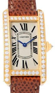 Cartier Cartier Tank Americaine 18K Yellow Gold Diamond Watch WB707231