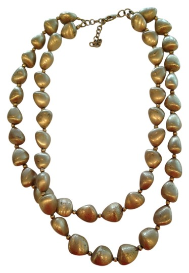 Other Gold covered stone like necklace & earrings