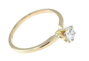 Details About Ladies 14k Yellow Gold .55ctw Solitaire Diamond Engagement Ring 2.1grams Size 7.75