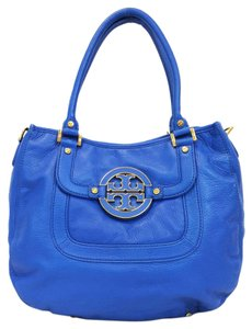 Tory Burch Leather Convertible Hobo Amanda Convertible Shoulder Bag