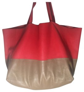 Céline Tote in red/ tan