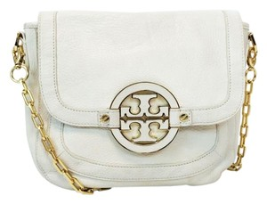 Tory Burch Amanda Fold Over Leather Messenger Cross Body Bag
