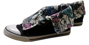 Coach Black with floral inside Flats