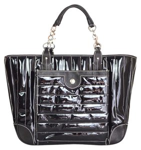 Lambertson Truex Patent Leather Tote in black