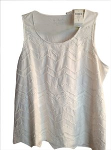 Chico's Sleeveless Top Optic white