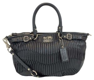 Coach Madison Leather Sophia Satchel in Graphite Grey