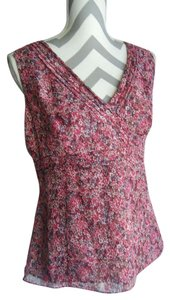 Casual Corner Sleeveless Empire Waist Top Pink and Purple