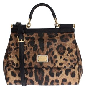 Dolce&Gabbana Tote Leopard Satchel in Multi Color