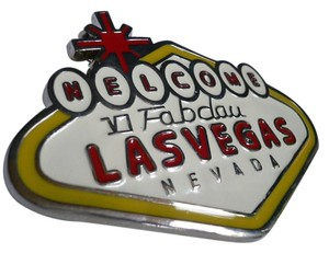 Other New Men Women Fun Welcome Las Vegas Nevada Sign Metal Belt Buckle Silver