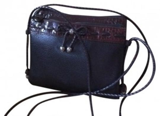 Preload https://item3.tradesy.com/images/brighton-black-and-brown-leather-cross-body-bag-17327-0-0.jpg?width=440&height=440