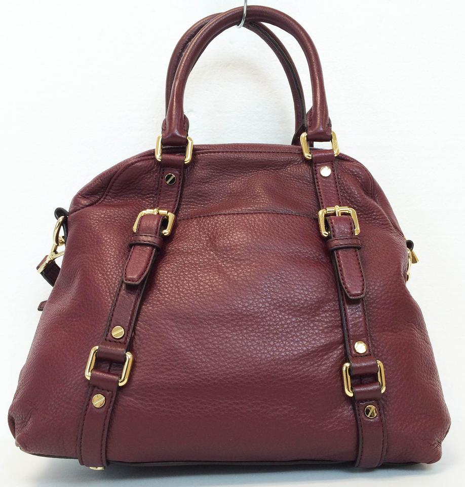 47d9088bbe96 Michael Kors Bedford Leather Bowling Convertible Satchel in Bordeaux Red  Image 11. 123456789101112