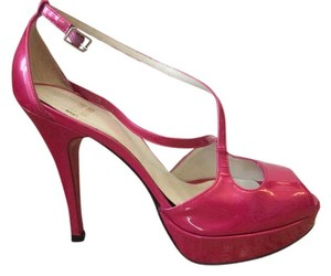 Stuart Weitzman Leather Pump Fuchsia Quasar Pumps