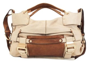 Kooba Luggage Brown Tan Rose Gold Satchel in Brown/Tan