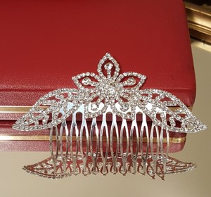 Gorgeous Bridal Silver Plated Rhinestone Hair Comb