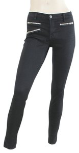 J Brand Denim Zipper Zip-up Skinny Jeans-Dark Rinse