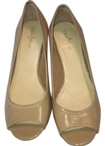 Cole Haan Tan patent Wedges