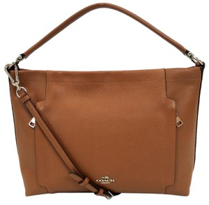 Coach Scout Pebbled Leather Tan Hobo Bag