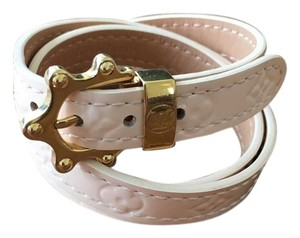 Louis Vuitton Louis Vuitton Vernis Light Pink Leather Bracelet 22.5