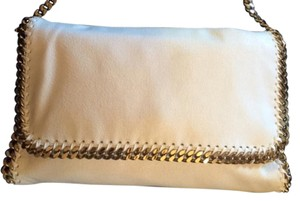 Stella McCartney Chain Chic Gold Hardware Front Flap WHITE Clutch
