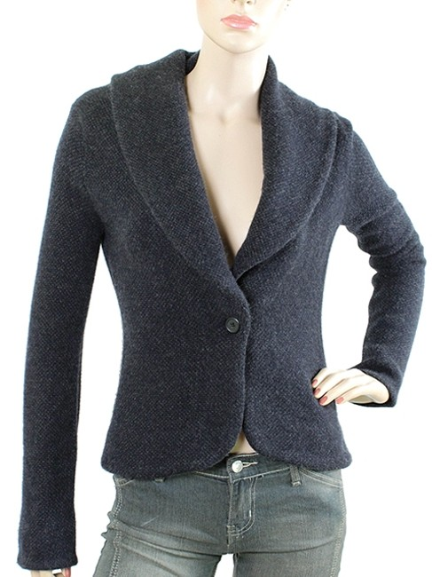 Preload https://img-static.tradesy.com/item/1732776/ralph-lauren-charcoal-grey-navy-black-label-knits-and-cashmere-wool-shawl-collar-knit-blazer-size-4-0-0-650-650.jpg