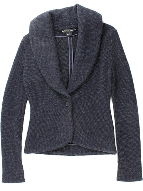 Ralph Lauren Knit Shawl Blazer Cashmere Evening Charcoal, Grey, Navy Jacket